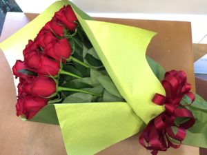 赤バラ花束