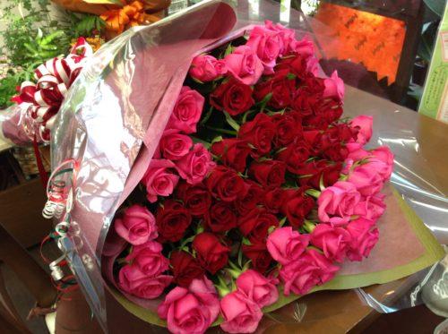 バラ 古希 花束