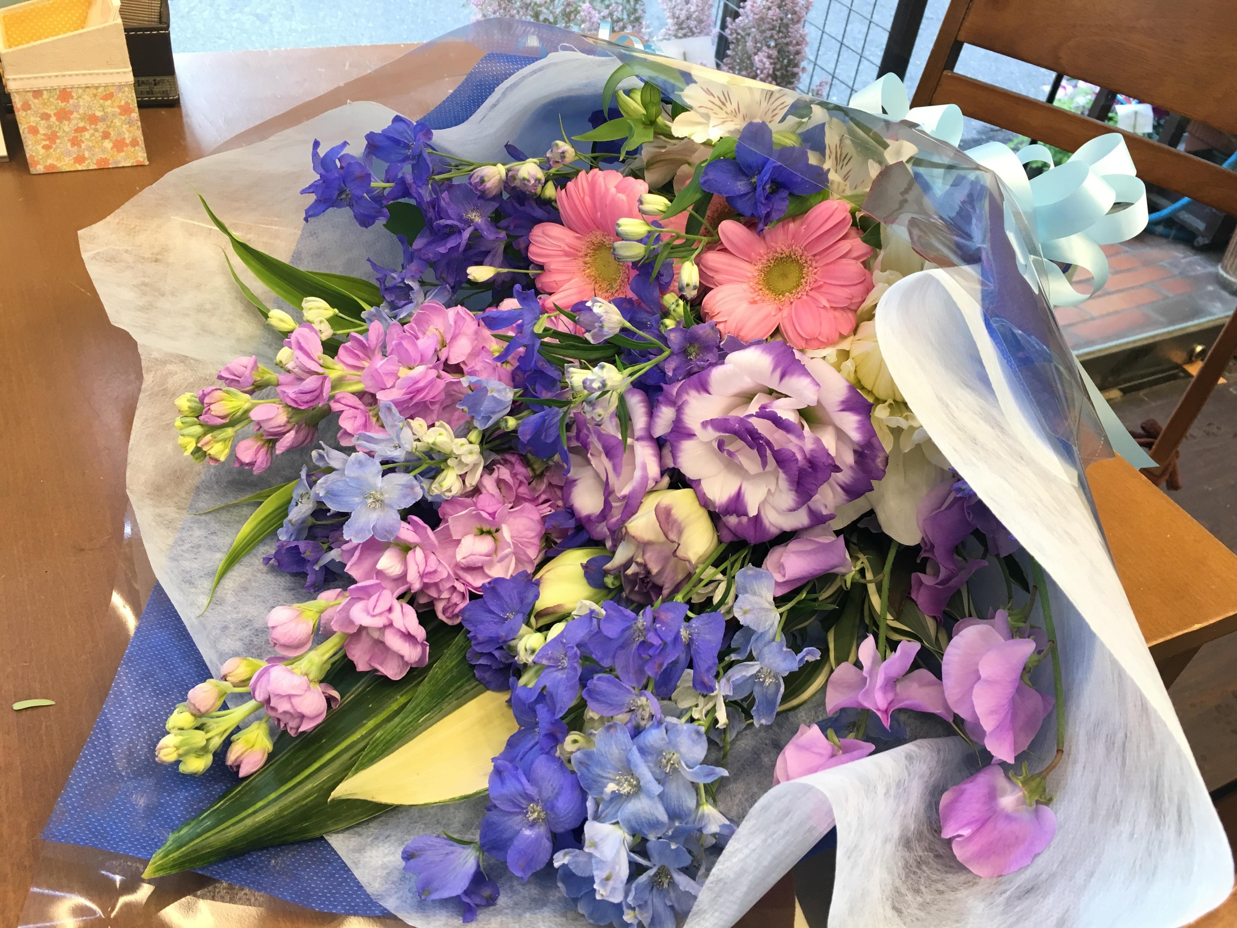 ブルー系花束