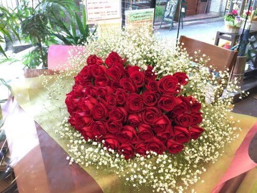 バラ 花束 還暦