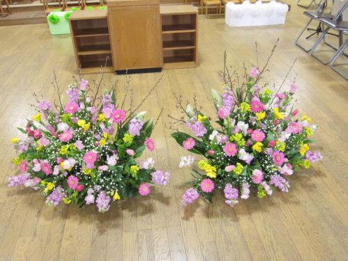 卒園 フロアー花