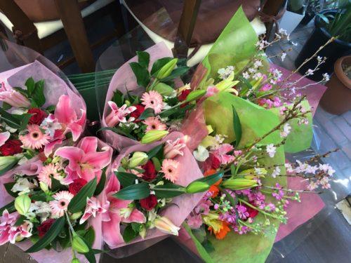 卒業式 花束