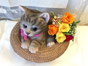 プリザーブドフラワー 猫