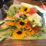 ヒマワリ 花束