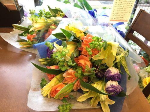 結婚祝い 両親への花束