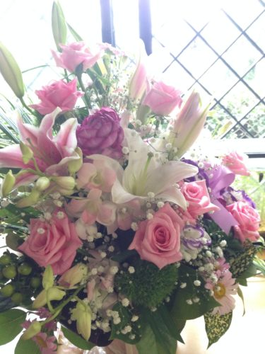 お誕生日 バラ アレンジメント