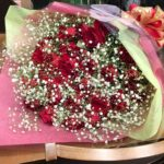 クリスマス 赤バラ 花束